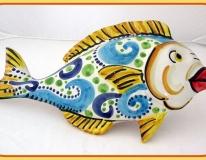 Pesce murale fantasia turchese